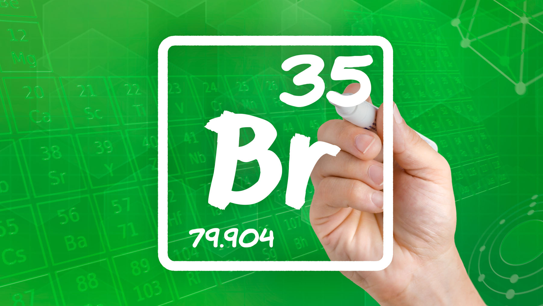 Bromine's information from the periodic table