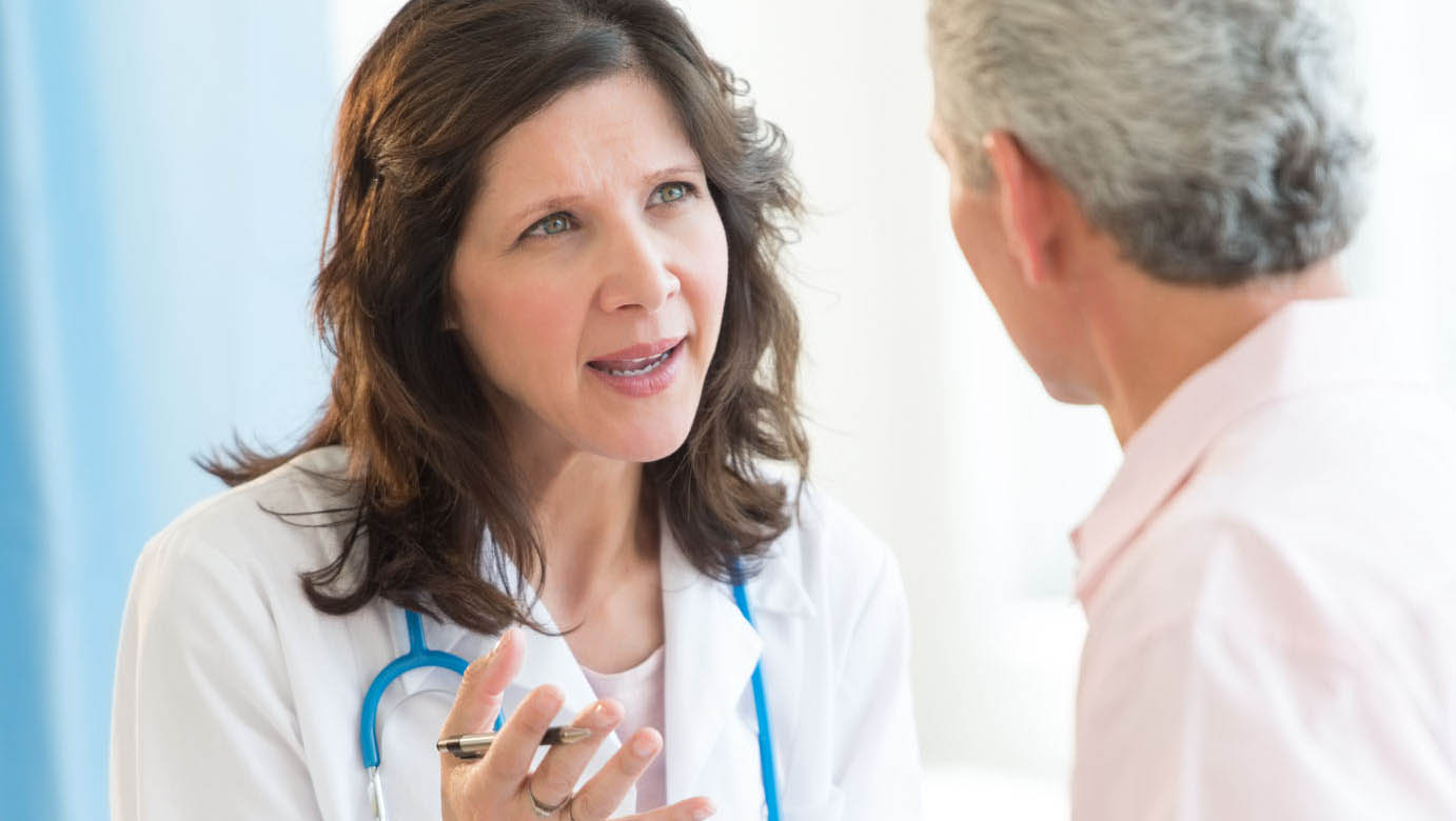 Doctor consulting with patient about BHRT