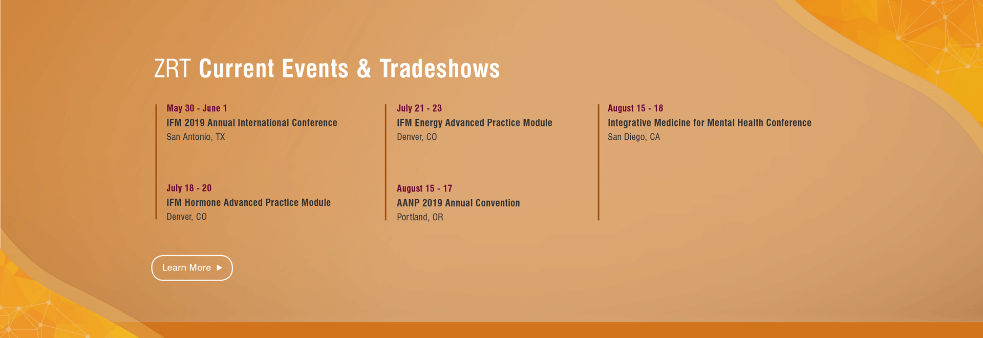 ZRT Laboratory Events and Trade Shows